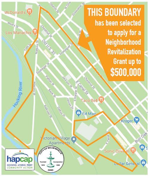Neighborhood Revitalization Grant map