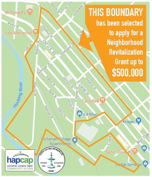 Neighborhood Revitalization Grant map